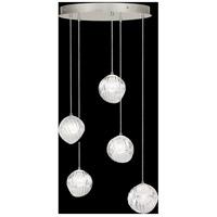 Fine Art Lamps 897640-1WH Nest 5 Light 28 inch Silver Pendant Ceiling Light
