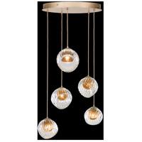 Fine Art Lamps 897640-2AB Nest 5 Light 28 inch Gold Pendant Ceiling Light