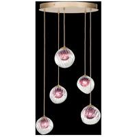 Fine Art Lamps 897640-2AM Nest 5 Light 28 inch Gold Pendant Ceiling Light