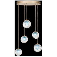 Fine Art Lamps 897640-2AQ Nest 5 Light 28 inch Gold Pendant Ceiling Light