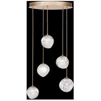 Fine Art Lamps 897640-2CL Nest 5 Light 28 inch Gold Pendant Ceiling Light