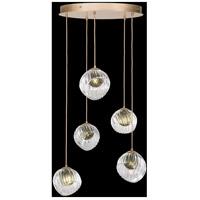 Fine Art Lamps 897640-2FG Nest 5 Light 28 inch Gold Pendant Ceiling Light