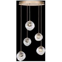 Fine Art Lamps 897640-2SQ Nest 5 Light 28 inch Gold Pendant Ceiling Light