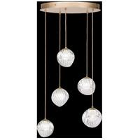 Fine Art Lamps 897640-2WH Nest 5 Light 28 inch Gold Pendant Ceiling Light