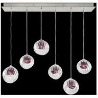 Fine Art Lamps 897740-1AM Nest 6 Light 15 inch Silver Pendant Ceiling Light
