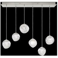 Fine Art Lamps 897740-1CL Nest 6 Light 15 inch Silver Pendant Ceiling Light