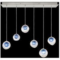 Fine Art Lamps 897740-1CO Nest 6 Light 15 inch Silver Pendant Ceiling Light
