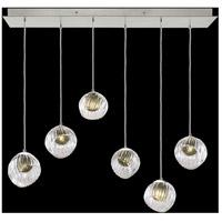 Fine Art Lamps 897740-1FG Nest 6 Light 15 inch Silver Pendant Ceiling Light