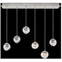 Fine Art Lamps 897740-1SQ Nest 6 Light 15 inch Silver Pendant Ceiling Light