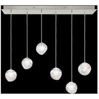 Fine Art Lamps 897740-1WH Nest 6 Light 15 inch Silver Pendant Ceiling Light