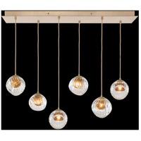 Fine Art Lamps 897740-2AB Nest 6 Light 15 inch Gold Pendant Ceiling Light