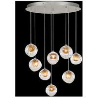 Fine Art Lamps 897840-1AB Nest 8 Light 35 inch Silver Pendant Ceiling Light