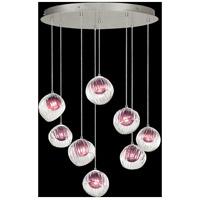 Fine Art Lamps 897840-1AM Nest 8 Light 35 inch Silver Pendant Ceiling Light