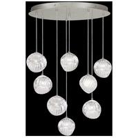 Fine Art Lamps 897840-1CL Nest 8 Light 35 inch Silver Pendant Ceiling Light