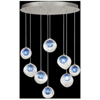 Fine Art Lamps 897840-1CO Nest 8 Light 35 inch Silver Pendant Ceiling Light