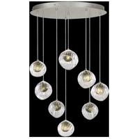 Fine Art Lamps 897840-1FG Nest 8 Light 35 inch Silver Pendant Ceiling Light