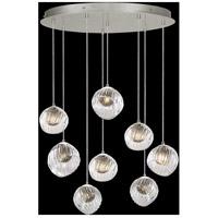 Fine Art Lamps 897840-1SQ Nest 8 Light 35 inch Silver Pendant Ceiling Light