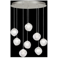 Fine Art Lamps 897840-1WH Nest 8 Light 35 inch Silver Pendant Ceiling Light