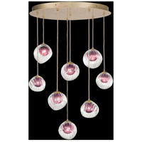 Fine Art Lamps 897840-2AM Nest 8 Light 35 inch Gold Pendant Ceiling Light