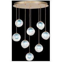 Fine Art Lamps 897840-2AQ Nest 8 Light 35 inch Gold Pendant Ceiling Light