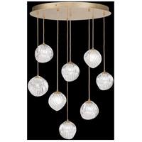 Fine Art Lamps 897840-2CL Nest 8 Light 35 inch Gold Pendant Ceiling Light