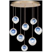 Fine Art Lamps 897840-2CO Nest 8 Light 35 inch Gold Pendant Ceiling Light