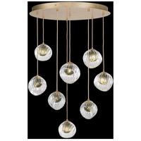 Fine Art Lamps 897840-2FG Nest 8 Light 35 inch Gold Pendant Ceiling Light