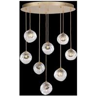 Fine Art Lamps 897840-2SQ Nest 8 Light 35 inch Gold Pendant Ceiling Light