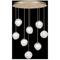 Fine Art Lamps 897840-2WH Nest 8 Light 35 inch Gold Pendant Ceiling Light