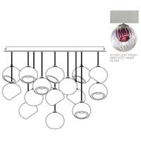 Fine Art Lamps 897940-1AM Nest 16 Light 47 inch Silver Pendant Ceiling Light