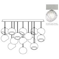 Fine Art Lamps 897940-1CL Nest 16 Light 47 inch Silver Pendant Ceiling Light