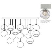 Fine Art Lamps 897940-1SQ Nest 16 Light 47 inch Silver Pendant Ceiling Light