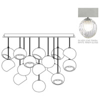 Fine Art Lamps 897940-1WH Nest 16 Light 47 inch Silver Pendant Ceiling Light