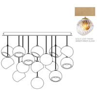 Fine Art Lamps 897940-2AB Nest 16 Light 47 inch Gold Pendant Ceiling Light
