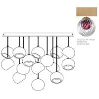 Fine Art Lamps 897940-2AM Nest 16 Light 47 inch Gold Pendant Ceiling Light
