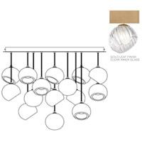 Fine Art Lamps 897940-2CL Nest 16 Light 47 inch Gold Pendant Ceiling Light