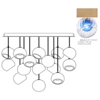 Fine Art Lamps 897940-2CO Nest 16 Light 47 inch Gold Pendant Ceiling Light