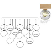Fine Art Lamps 897940-2FG Nest 16 Light 47 inch Gold Pendant Ceiling Light