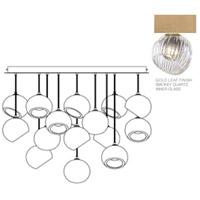 Fine Art Lamps 897940-2SQ Nest 16 Light 47 inch Gold Pendant Ceiling Light