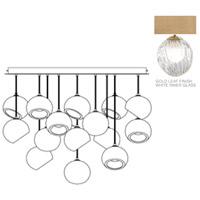Fine Art Lamps 897940-2WH Nest 16 Light 47 inch Gold Pendant Ceiling Light