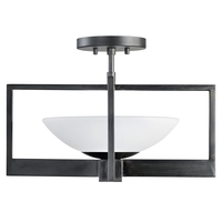 Fine Art Lamps 898482ST Delphi LED 18 inch Black Outdoor Flush Mount