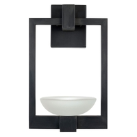 Fine Art Lamps 898581ST Delphi Outdoor LED 16 inch Black Outdoor Wall Sconce