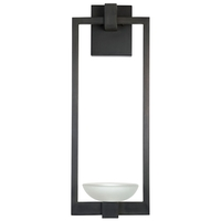 Fine Art Lamps 898681ST Delphi Outdoor LED 27 inch Black Outdoor Wall Sconce