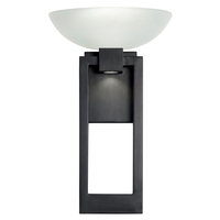 Fine Art Lamps 898781ST Delphi Outdoor LED 17 inch Black Outdoor Wall Sconce