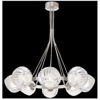 Fine Art Lamps 899240-19WH Nest 8 Light 39 inch Silver Pendant Ceiling Light