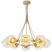 Fine Art Lamps 899240-2AB Nest 8 Light 39 inch Gold Pendant Ceiling Light