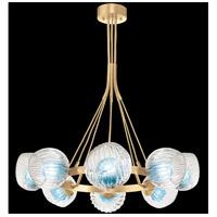Fine Art Lamps 899240-2AQ Nest 8 Light 39 inch Gold Pendant Ceiling Light