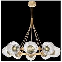 Fine Art Lamps 899240-2FG Nest 8 Light 39 inch Gold Pendant Ceiling Light