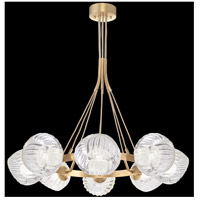 Fine Art Lamps 899240-2WH Nest 8 Light 39 inch Gold Pendant Ceiling Light