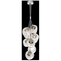 Fine Art Lamps 899740-1SQ Nest 8 Light 16 inch Silver Pendant Ceiling Light